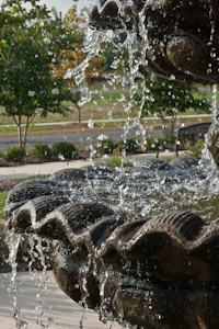 Bubbly water fountain
