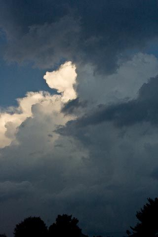 Storm clouds, bright edge