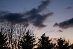 Pale Dawn, dark clouds
