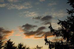 orange-gold, gray clouds