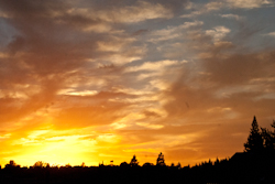 Sunset over Folsom, CA, 10/06/13